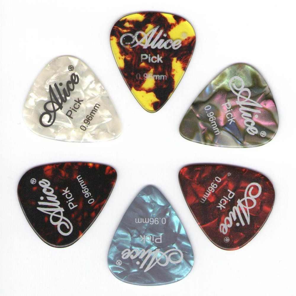 6 pièces Alice celluloïd guitare médiator épaisseur 0.46 0.71 0.81 0.96 1.20 1.50mm-couleur aléatoire