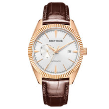 Reef Tiger/RT Top Brand Luxury Mens Watch Automatic Dress Watches Genu