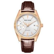 Riff Tiger/RT Top Marke Luxus Herren Uhr Automatische Kleid Uhren Echtes Leder Armband Wasserdichte Relogio Masculino RGA1616