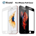 9H 0.2mm 2.5D Colorful Full Cover Tempered Glass For iPhone 7 7 Plus Explosion-Proof Screen Protector Film For iPhone 6 6s Plus