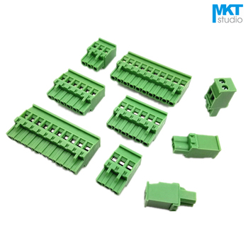 100Pcs 9P 5.08mm Pitch A-Type Straight Female PCB Electrical Screw Wire Terminal Block Connector