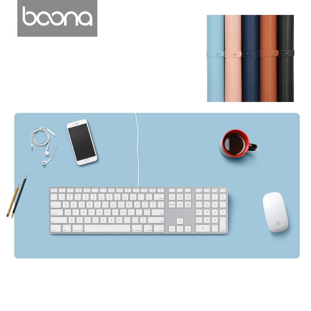 Boona  PU Double Sided Gaming Mouse Pad 90*45/120*60CM  L & XL Gamer Mat Solid Color Keyboard Mouse Mat for PC Laptop Anti-Slip Boona  PU Double Sided Gaming Mouse Pad 90*45/120*60CM  L & XL Gamer Mat Solid Color Keyboard Mouse Mat for PC Laptop Anti-Slip