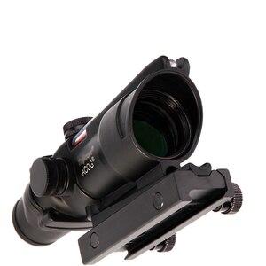 Image 5 - Portée de chasse LUGER ACOG 4X32 vraie Fiber optique point rouge illuminé Chevron verre gravé réticule optique tactique