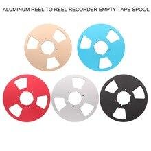 """10 """"อลูมิเนียม Reel Reel Master Recorder ที่ว่างเปล่าเทป Spool สำหรับ Hifi Audio STUDER TELEFUNKUN REVOX NAGRA จัดส่งฟรี 1 ชิ้น"""