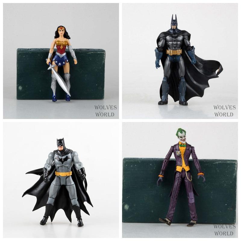 Huong Movie Figure 5 Styles DC Heroes Batman Joker Wonder Woman PVC Action Figure Kids Toys Gift