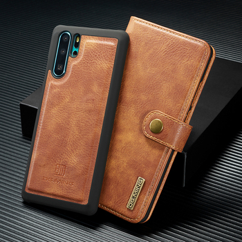 For Huawei Mate 20 30 Pro Lite Pro Psmart 2019 P10 P20 P30 P40 Luxury Retro Leather 2 in 1 Detachable Magnetic Flip cover case