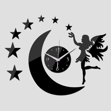 Hot Diy Home Decoration Fashion Mirror Surface Europe Mirror Wall Stickers Clock Living Room Wall Clock 3 Colors(China)