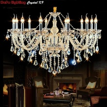 Free Shipping Luxury Chandeliers and pendant Living Room Lamps Lighting Modern Crystal Chandelier Indoor Lamp Hotel Hall Lights  zx modern european large chandelier luxury fashion metal tassel led e27 pendant light for hall hotel art aluminum indoor lamp