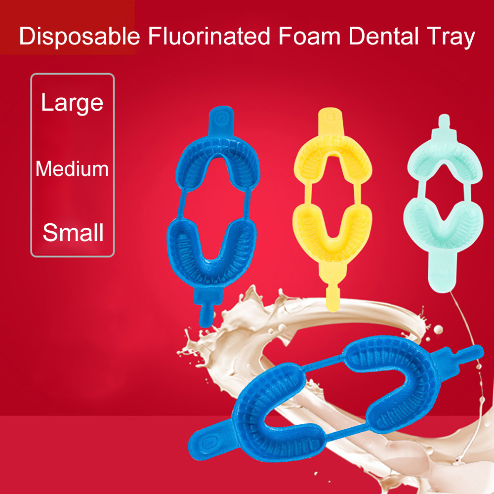 20PCS Dental Disposable Tray Fluoride Foam Impression Trays Dentistry Instrument Dentist Materials  Large Medium Small Size
