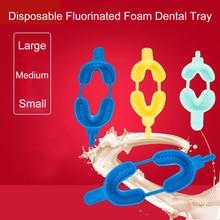 20PCS Dental Disposable Tray Fluoride Foam Impression Trays Dentistry Instrument Dentist Materials  Large Medium Small Size