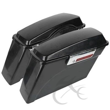 Left Right Unpainted Lockable Saddlebag For Harley HD Sportster Dyna Touring FLT