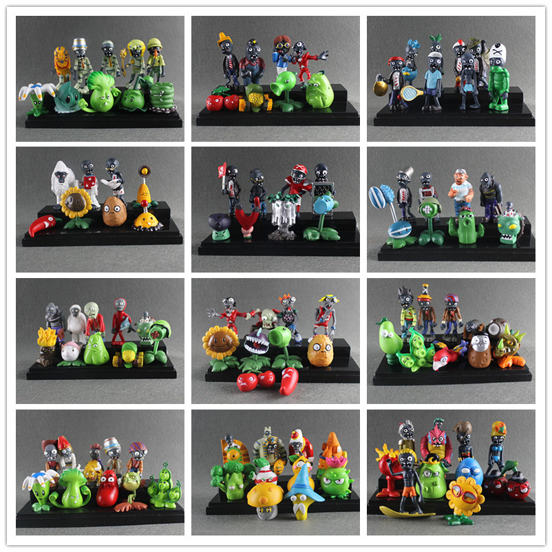 Plants vs Zombies Toy Plants Zombies PVC Action Figures Toy Doll Set for Collection Party Decoration, Kids Gifts 40pcs set plants vs zombies toys anime pvz pvc action figure 3 8cm collection model figma kids toy for boys girls birthday gifts