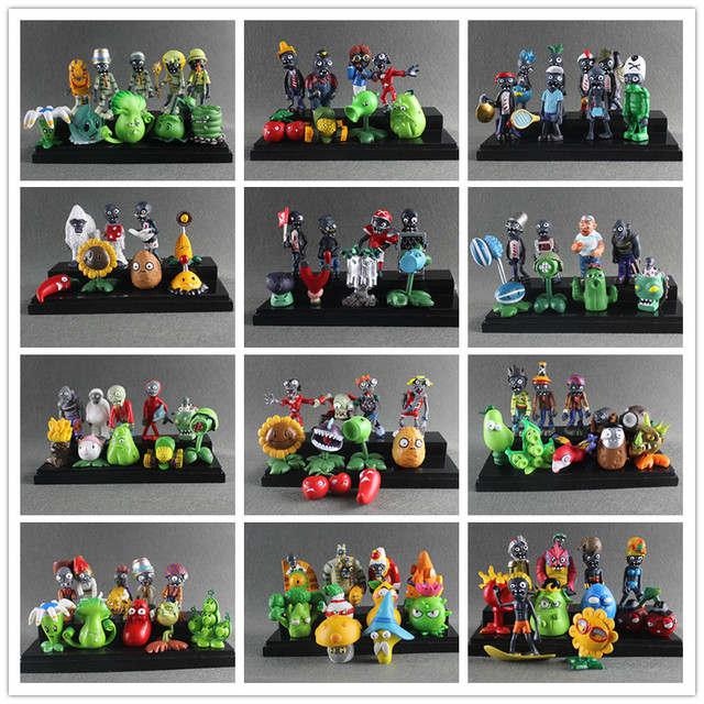 Plants vs Zombies Toy Plants Zombies PVC Action Figures Toy Doll Set for Collection Party Decoration, Kids Gifts
