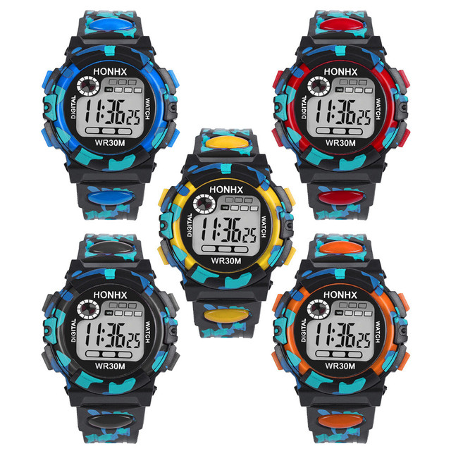 Drop Shipping Waterproof Sports Electronic Watch Discount Watches Camouflage Mul