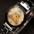 Amantes da moda Genebra Relógio de Quartzo Pulseira de Aço Inoxidável Mulheres Homens Dos Desenhos Animados De Quartzo-relógio Dos Desenhos Animados-relógio Relógio Montre Femme
