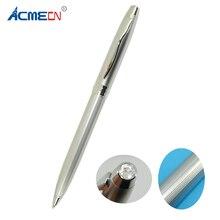 купить ACMECN Silver Ball Pen with Austria Crystal on pen Top Twist Slim Crosss Style Famous Brand Pen Ball Point Writing Stationery дешево