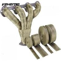 2 X5m Titanium High Temp Exhaust Heat Wrap Army Green Heater Retention Resistant 10 Ties