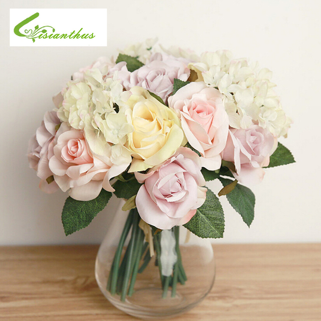 2018 Artificial Flowers for Decoration Fake Leaf Wedding Home Party ...