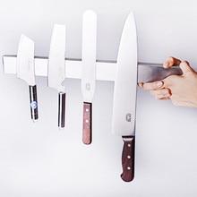 Мощный магнитный для ножей держатель 31/41 см настенный магнитный держатель крепление стеллаж для хранения крюк для металлического инструмента органайзер для кухонных принадлежностей