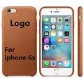 Con LOGO cubierta de la Caja de Cuero Original 1:1 para iPhone6 6 s 4.7/5.5 Copia de La Contraportada caso Original Oficial estilo