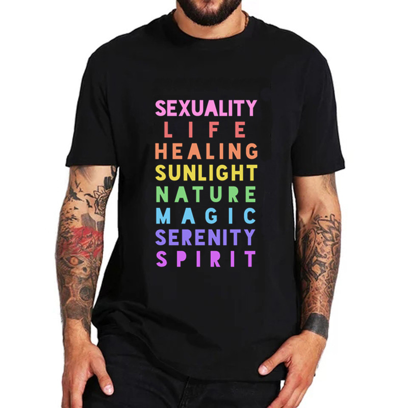 <font><b>Pride</b></font> Flag Meaning Lesbian Gay <font><b>Bisexual</b></font> Transgender LGBTQ Men Women T-<font><b>Shirts</b></font> Streetwear cotton tshirts male top clothes t <font><b>shirts</b></font> image
