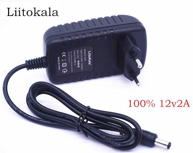 Liitokala-12 V 2 мкм Adaptador де калибр, Каррегадор, и область ado Para ЛИИ-500