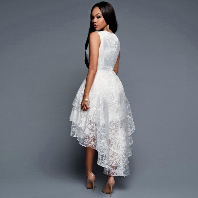 6c26223b168852 Biały Vintage 3 Organza Warstwowa Suknie Eleganckie Panie Cocktail Ball  Suknia Kobiety Bez Rękawów Vestidoes Kobieca