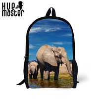 3D Elephant Printing Cool College Students Book Bag School Bookbag Casual Men S Backpack Women Backbag