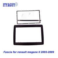2 DIN adaptateur CD garniture panneau stéréo Interface Radio cadre de voiture panneau Fascia adapté pour RENAULT Megane II 2003-2009, 2Din/2 din