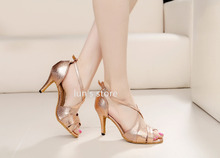 New Women Rose Gold Snakeskin Print Ballroom Latin Dance Shoes Salsa Bachata Dance Shoes ALL SIZE