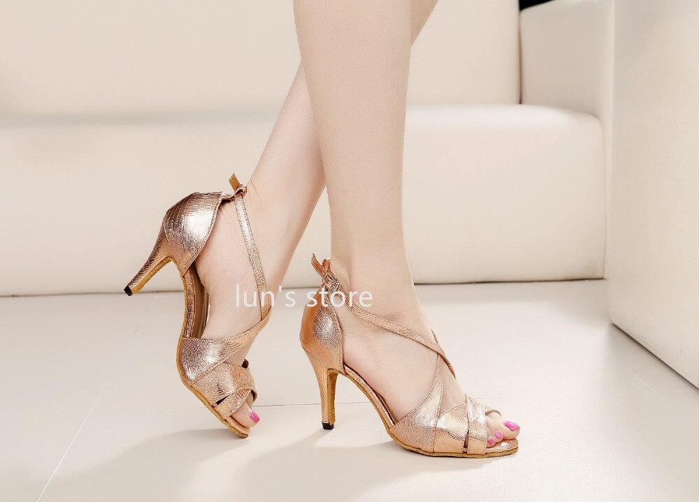 2d32f680 Nuevos zapatos de baile latino con estampado de piel de serpiente en oro  rosa para mujer en Zapatillas de baile de Deportes y ocio en AliExpress.com  ...
