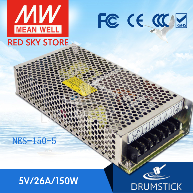 Best-selling MEAN WELL NES-150-5 5V 26A meanwell NES-150 130W Single Output Switching Power Supply best selling mean well se 200 15 15v 14a meanwell se 200 15v 210w single output switching power supply