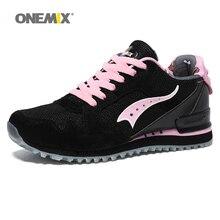 Onemix women retro running shoes lightweight autumn sneakers outdoor sports walking sneakers jogging female pink trekking shoes