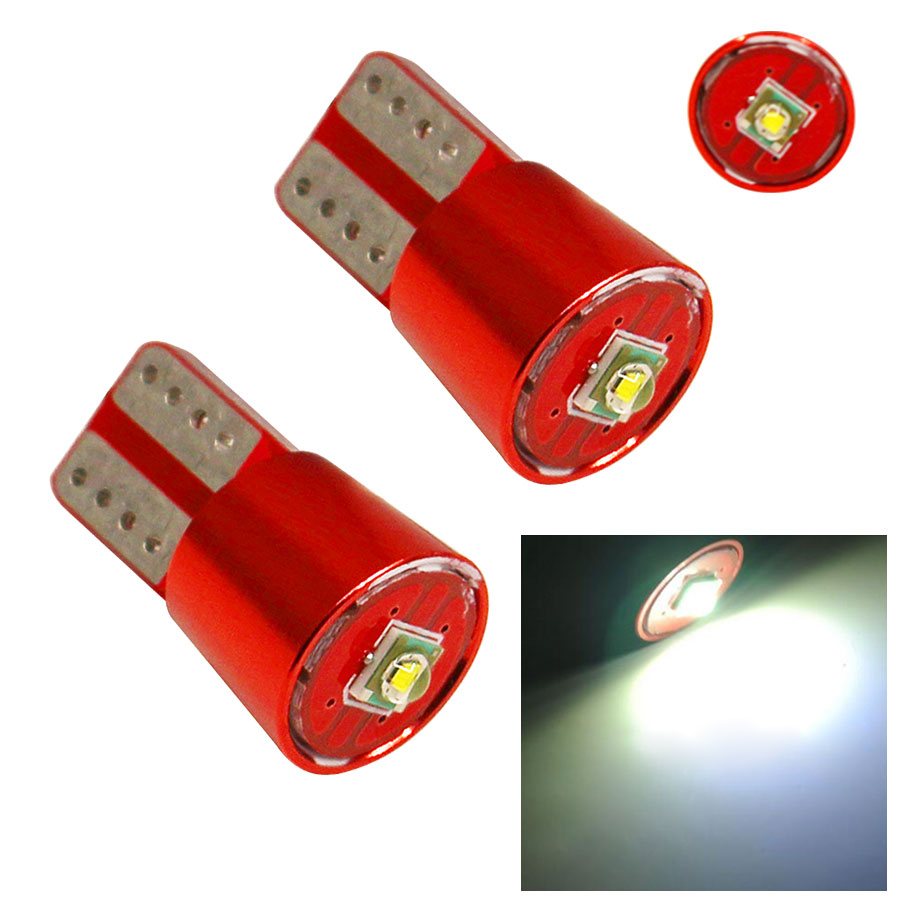 2Pcs Super Bright T10 Led Lights W5W Error Free Canbus Bulb White For Car Wedge Light Source DC 12V t10 lamp New 10pcs super bright led lamp t10 w5w 194 6smd 4014 error free canbus interior bulb white for car dc 12v free shipping new