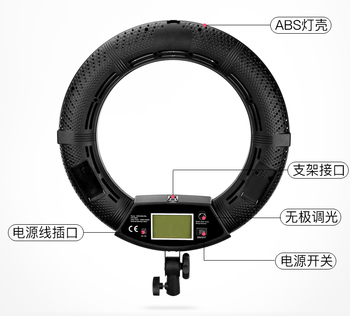 LED Ring Light with Stand and Mirror (Dimmable  color 3200k-5500k Phone Holder for Camera Smartphone  Video Shooting    CD50