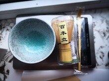 Бесплатная доставка церемония сорт матча чайный сервиз, зеленый чай порошок японский ceremic чаша матча венчик и бамбуковый совок 3 части в комплекте