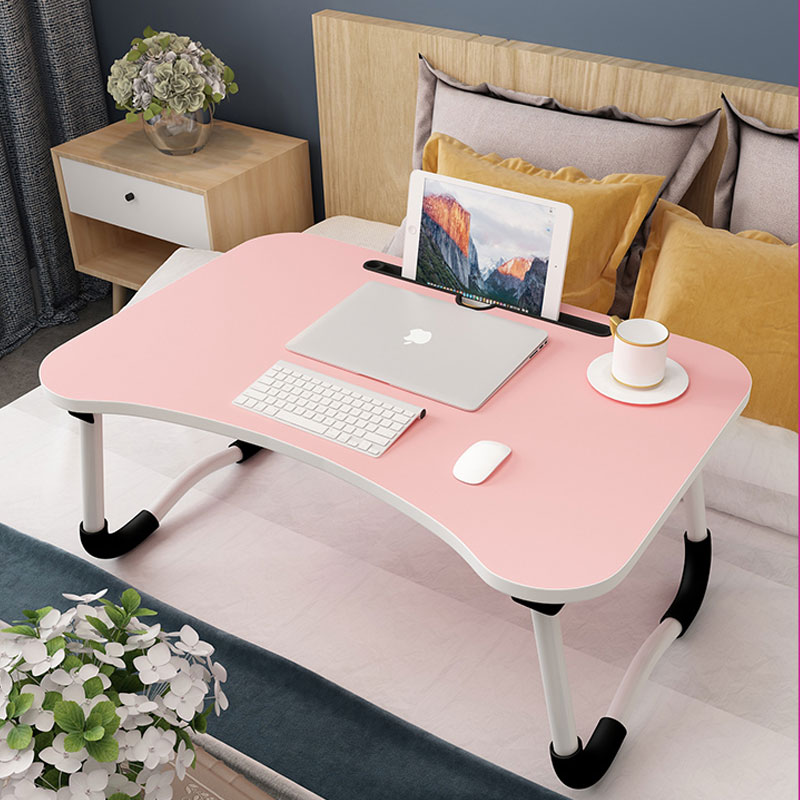 new arrival 79aa0 c91d8 US $33.05 20% OFF Bed Small Table Foldable Laptop Lazy To Do Table Student  Bedroom Study Desk Dormitory Artifact-in Laptop Desks from Furniture on ...