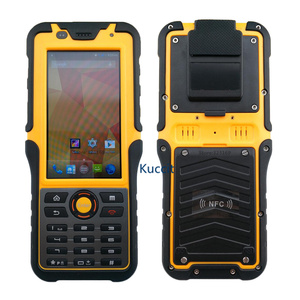 Image 2 - 2017 Rugged Waterproof Big Phone Handheld Terminal Barcode Scanner Android Bluethooth PDA NFC 2D Laser Reader 3G Data Collector