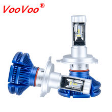 VooVoo H4 H7 LED Car Headlight 50W 12000LM/Set ZES Chip H3 H1 H11 9005 HB3 9006 HB4 9012 LED Bulbs 6500K Auto Headlamp 12V 24V(China)