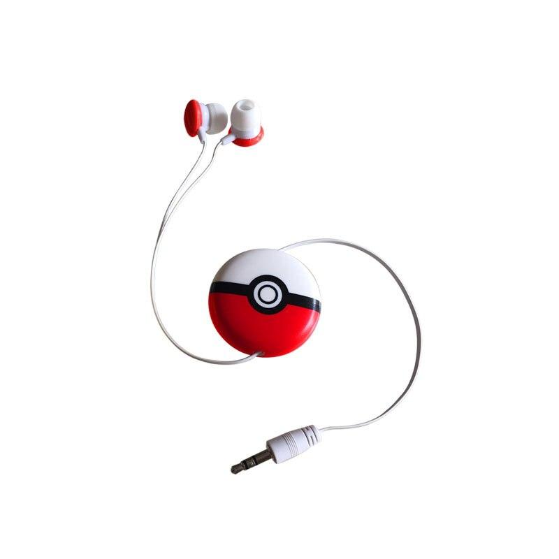 Automatic retractable earphone cable cartoon in-ear earphone treasure can dream elf ball headset mini cartoon ear headphones