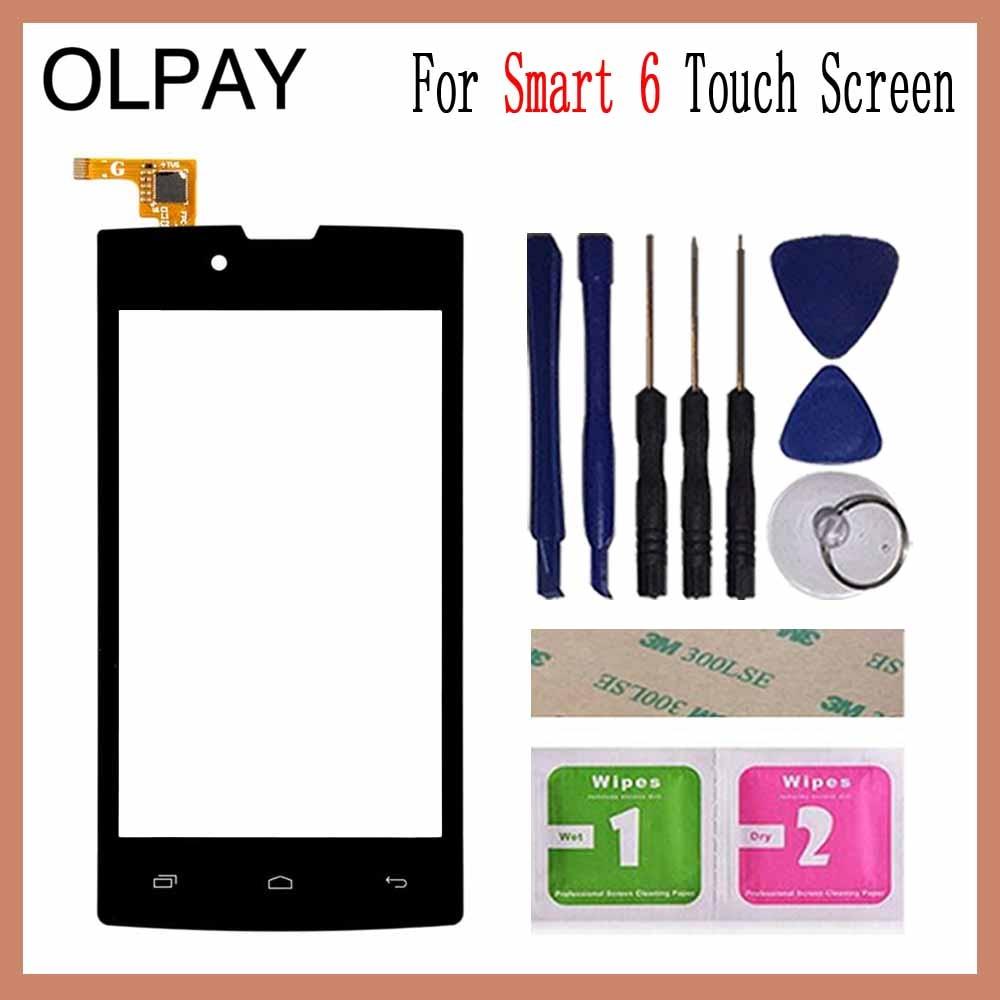 OLPAY 4,0 ''Сенсорный экран для Билайн Smart 6 Сенсорный экран планшета Панель спереди Стекло объектив Сенсор инструменты клей + салфетки