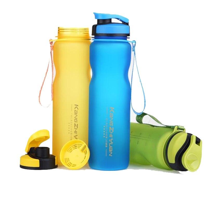 1000 ML Sport Bouteilles D'eau En Plastique Tasses Gommage Espace Tasse Écologique Tritan BPA Livraison Escalade, Randonnée, Cyclisme Bouteille U0075