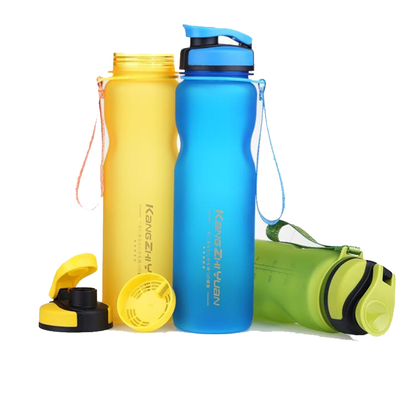 1000ML Sports Water Bottles Plastic Cups Scrub Space Cup Eco-Friendly Tritan BPA Free Climbing Hiking Cycling Bottle U0075