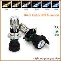 2 PCS H4-3 Bi Xenon kit farol do carro 35 W 6000 K h4 bixenon HID Xenon lâmpada auto nevoeiro luz da lâmpada Bi-Xenon Hi/Lo Feixe 4300 K 8000 K