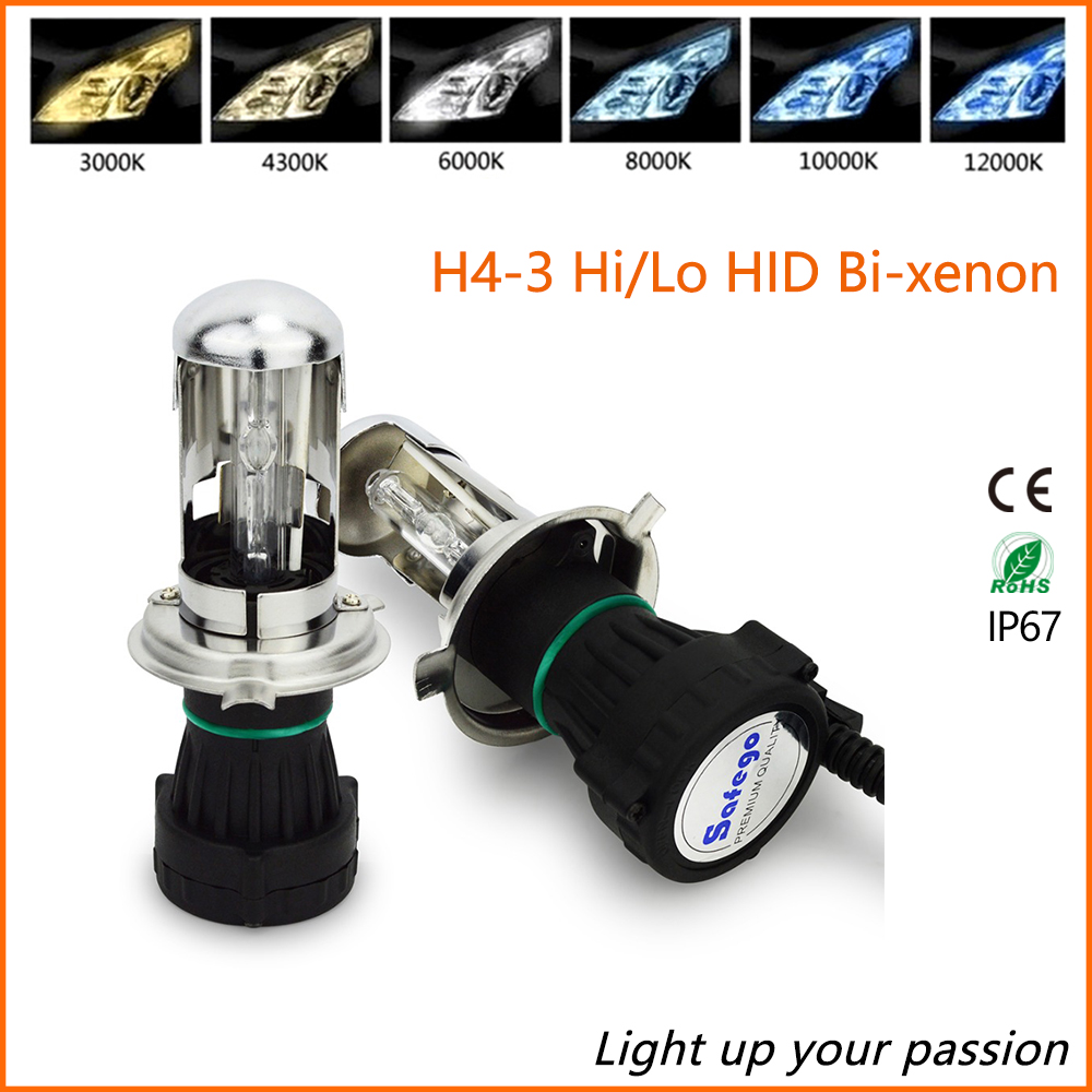 2PCS H4-3 Bi Xenon kit car headlight 35W 6000K bixenon h4 HID Xenon bulb auto fog light lamp  Bi-Xenon Hi/Lo Beam 4300K 8000K 2x 35w car hid bulb h4 bi xenon light h4 hi lo beam hid bulbs bi xenon h4 3 for auto headlight 12v ac 4300k 6000k 8000k 10000k