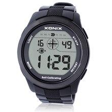 XONIX Auto Calibración de Internet de Los Hombres Relojes Deportivos, 100 M Impermeable de Radio de Onda Digitales Autocalibrado Reloj Mujer Montre Homme