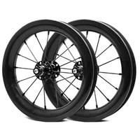 Ultra Light 12 дюймов диски углерода колесная 30 мм ширина 25 мм Глубина Clincher BMX велосипед полный углерода Колесная для малыш баланс велосипед