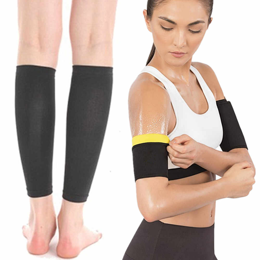 d8f5028ee4f36 Women Shapers Hot Body Shapers Slimming Calf Thigh Sleeves Hot Sale DropShipping  Neoprene Arms Sleeves Weight