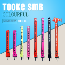 Scuba Colorful Diving Surface Marker Buoy SMB Underwater Safety Signal Buoy Float Inflatable Tube Sausage 1.5m 1.2m 1.8m Buoy