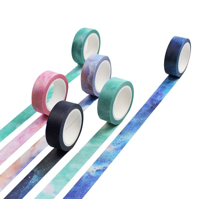 Twilight Color Washi Tape DIY Stickers Scrapbooking Masking Tape Adhesive Tape Label Sticker Stationery